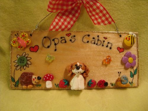 One Personalised Puppy Dog Kennel Bed Garden Run Wooden 3d Sign Personalised Any Breed Colouration Phrasing